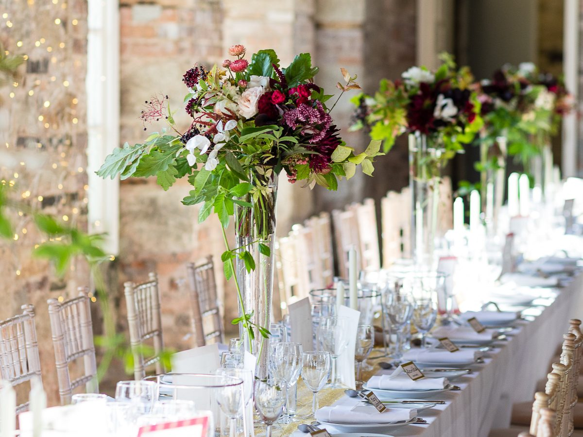 Borris House Wedding autumn tablescape