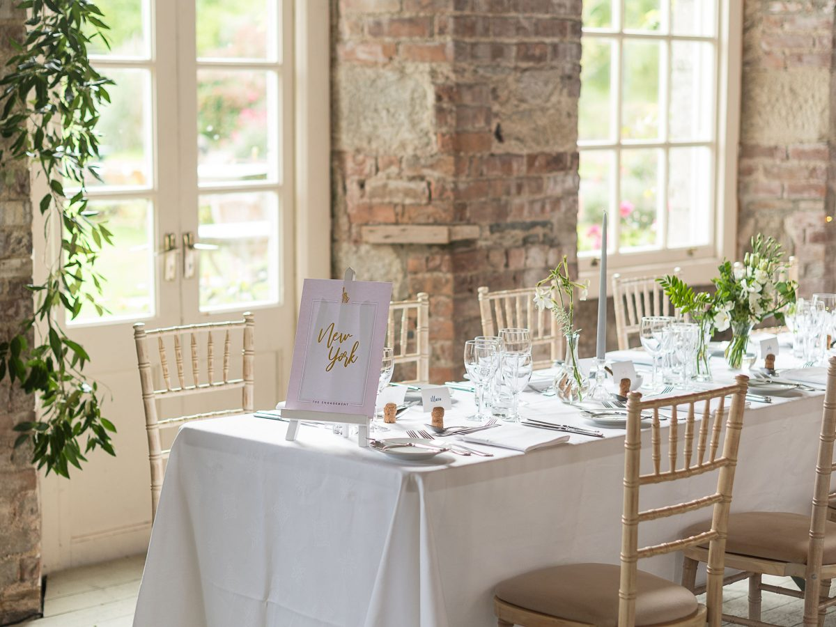 Borris House Wedding decor greenery whites tablescape