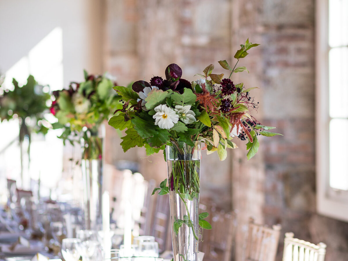 borris house autumn wedding flowers
