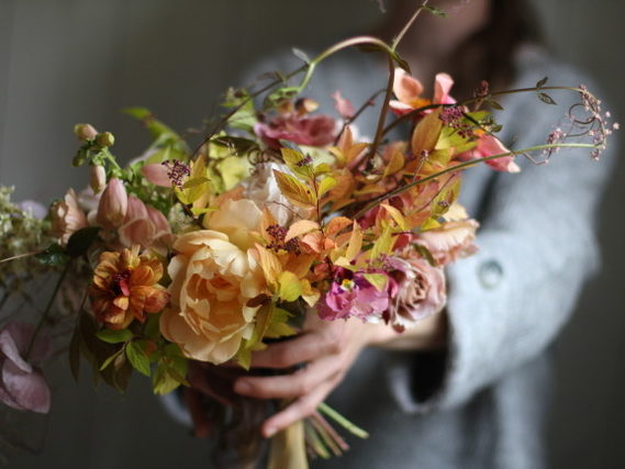 brides boquet, autumn