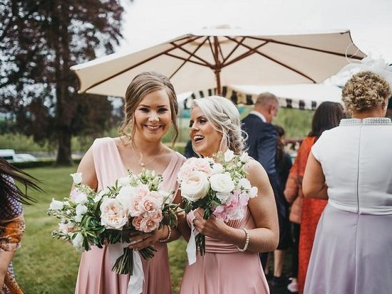 bridesmaids bouquets summer wedding