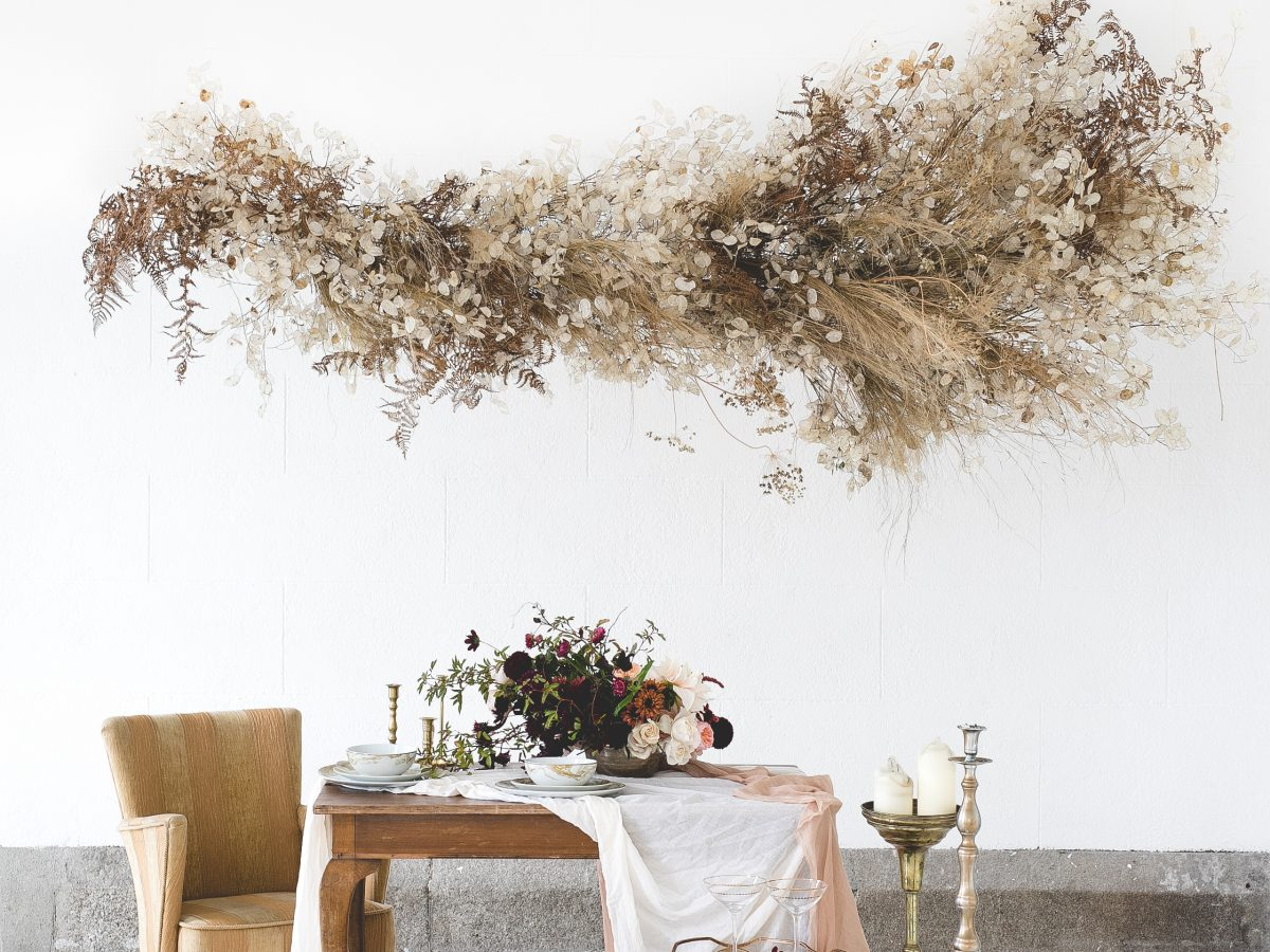 Horetown House Dried flowers hanging installation